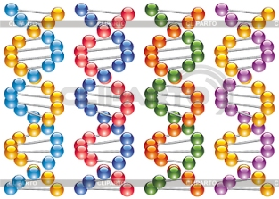 3780857-set-of-colorful-dna-strands