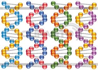 3780857-set-of-colorful-dna-strands