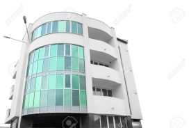 1745922-Building-of-hotel-from-glass-and-concrete-with-two-external-lanterns-it-is-isolated-on-a-white-backg-Stock-Photo